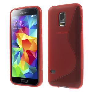 Gelové S-line pouzdro na Samsung Galaxy S5 mini G-800- červené - 1