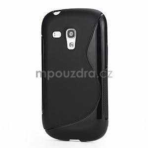 Čierné gélové puzdro pre Samsung Galaxy S3 mini / i8190 - 1