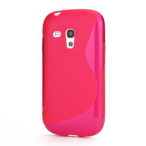 Růžové gélové puzdro pre Samsung Galaxy S3 mini / i8190 - 1