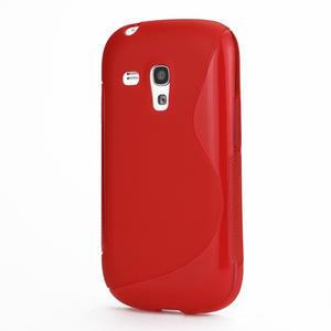 Červené gélové puzdro pre Samsung Galaxy S3 mini / i8190 - 1