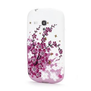 Gélové puzdro pre Samsung Galaxy S3 mini i8190- květiny - 1