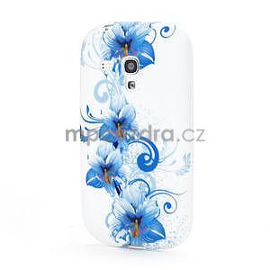 Bílé gélové puzdro pre Samsung Galaxy S3 mini / i8190 - vzor Lily - 1