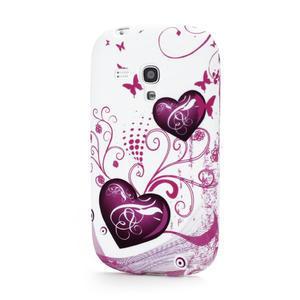 Gélové puzdro na Samsung Galaxy S3 mini i8190- dvě srdce - 1