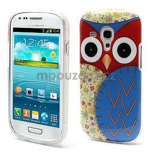 Gélové puzdro pre Samsung Galaxy S3 mini / i8190 - modrá Sova - 1
