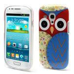 Gélové puzdro pre Samsung Galaxy S3 mini / i8190 - modrá Sova - 1/5