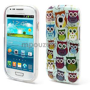 Gélové puzdro pre Samsung Galaxy S3 mini / i8190 - mini Sovy II - 1