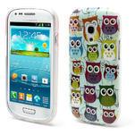 Gélové puzdro pre Samsung Galaxy S3 mini / i8190 - mini Sovy II - 1/5