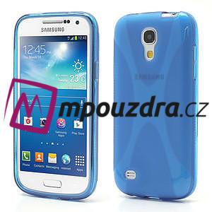 Gelové X pouzdro pro Samsung Galaxy S4 mini i9190- modré - 1