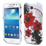 Gelové pouzdro pro Samsung Galaxy S4 mini i9190- červený květ - 1/5