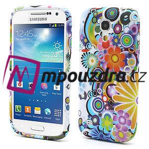 Gélové puzdro pro Samsung Galaxy S4 mini i9190- farebné kvety - 1
