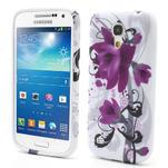 Gélové puzdro pro Samsung Galaxy S4 mini i9190- fialové kvety - 1/5