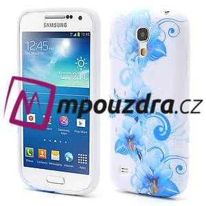 Gélové puzdro pro Samsung Galaxy S4 mini i9190- modrá lilie - 1