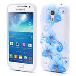 Gelové pouzdro pro Samsung Galaxy S4 mini i9190- modrá lilie - 1/5