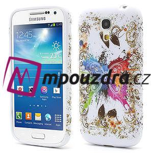 Gélové puzdro pro Samsung Galaxy S4 mini i9190- farebný motýl - 1