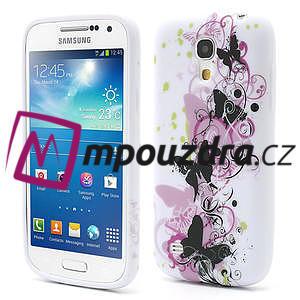 Gelové pouzdro pro Samsung Galaxy S4 mini i9190- vlající motýl - 1