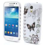 Gelové pouzdro pro Samsung Galaxy S4 mini i9190- elegantní motýl - 1/4