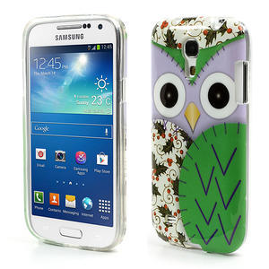 Gélové puzdro pre Samsung Galaxy S4 mini i9190- sova zelená - 1