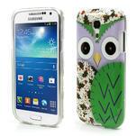 Gélové puzdro pre Samsung Galaxy S4 mini i9190- sova zelená - 1/5