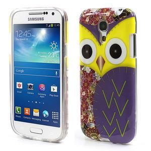 Gélové puzdro pre Samsung Galaxy S4 mini i9190- sova fialová - 1