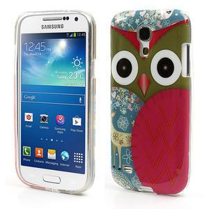 Gelové pouzdro na Samsung Galaxy S4 mini i9190- sova červená - 1
