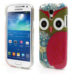 Gélové puzdro pre Samsung Galaxy S4 mini i9190- sova červená - 1/5