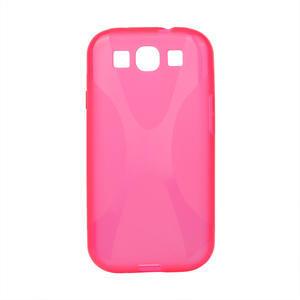 Gélové puzdro pro Samsung Galaxy S3 i9300 - X-line ružové - 1