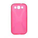 Gélové puzdro pro Samsung Galaxy S3 i9300 - X-line ružové - 1/2