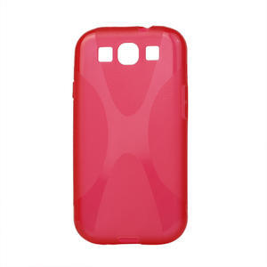 Gélové puzdro pro Samsung Galaxy S3 i9300 - X-line červené - 1