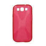 Gélové puzdro pro Samsung Galaxy S3 i9300 - X-line červené - 1/2