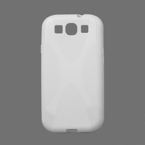 Gélové puzdro pro Samsung Galaxy S3 i9300  - X-line biele - 1