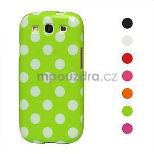 Puntíkové pouzdro pro Samsung Galaxy S3I i9300 - zelené - 1