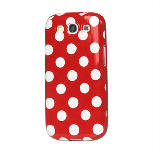 Puntíkové pouzdro pro Samsung Galaxy S3 i9300 - červené - 1