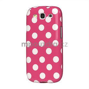 Puntíkové puzdro pro Samsung Galaxy S3 i9300 - ružové - 1