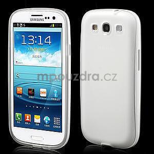 Gelové rámované pouzdro na Samsung Galaxy S3 i9300- transparentní - 1