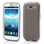 Gélové rámované puzdro pre Samsung Galaxy S3 i9300- šedé - 1/7