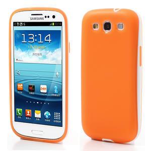 Gélové rámované puzdro pre Samsung Galaxy S3 i9300- oranžové - 1