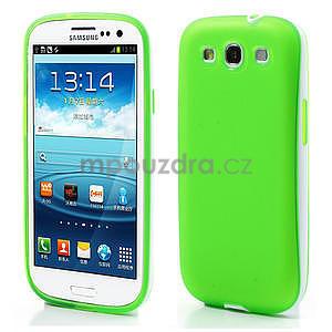 Gelové rámované pouzdro na Samsung Galaxy S3 i9300- zelené - 1