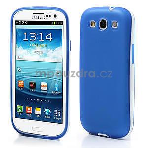Gelové rámované pouzdro na Samsung Galaxy S3 i9300- modré - 1