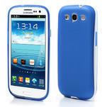 Gelové rámované pouzdro na Samsung Galaxy S3 i9300- modré - 1/6