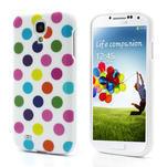 Gélové Puntík puzdro na Samsung Galaxy S4 i9500- bílofarebné - 1/5