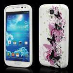 Gelové pouzdro pro Samsung Galaxy S4 i9500- vlající motýl - 1/4