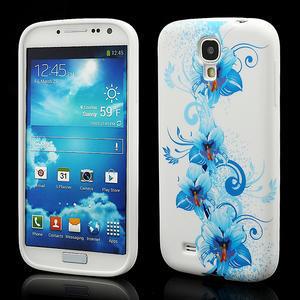 Gelové pouzdro pro Samsung Galaxy S4 i9500- modrá Lilie - 1