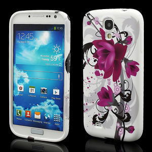 Gelové pouzdro pro Samsung Galaxy S4 i9500- květové pouzdro - 1