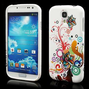 Gelové pouzdro pro Samsung Galaxy S4 i9500- barevná květina - 1