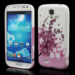 Gélové puzdro pro Samsung Galaxy S4 i9500- kvitnúca slivka - 1