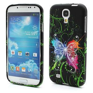 Gélové puzdro pro Samsung Galaxy S4 i9500- farebný motýl - 1
