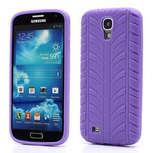 Gelové PNEU pouzdro pro Samsung Galaxy S4 i9500- fialové - 1