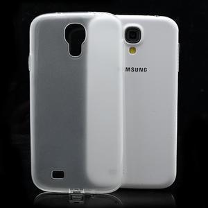 Gélové slim puzdro na Samsung Galaxy S4 i9500- biele - 1