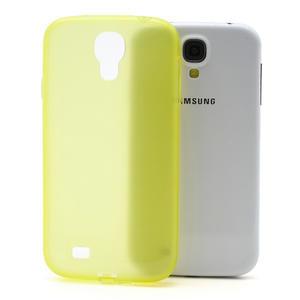 Gélové slim puzdro na Samsung Galaxy S4 i9500- žlté - 1