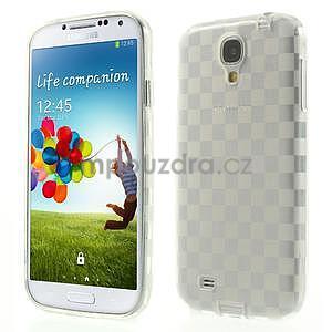 Gélové kosočvercové puzdro na Samsung Galaxy S4 i9500- Transparentní - 1